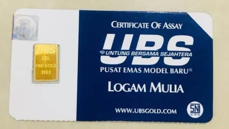 Harga emas batangan UBS