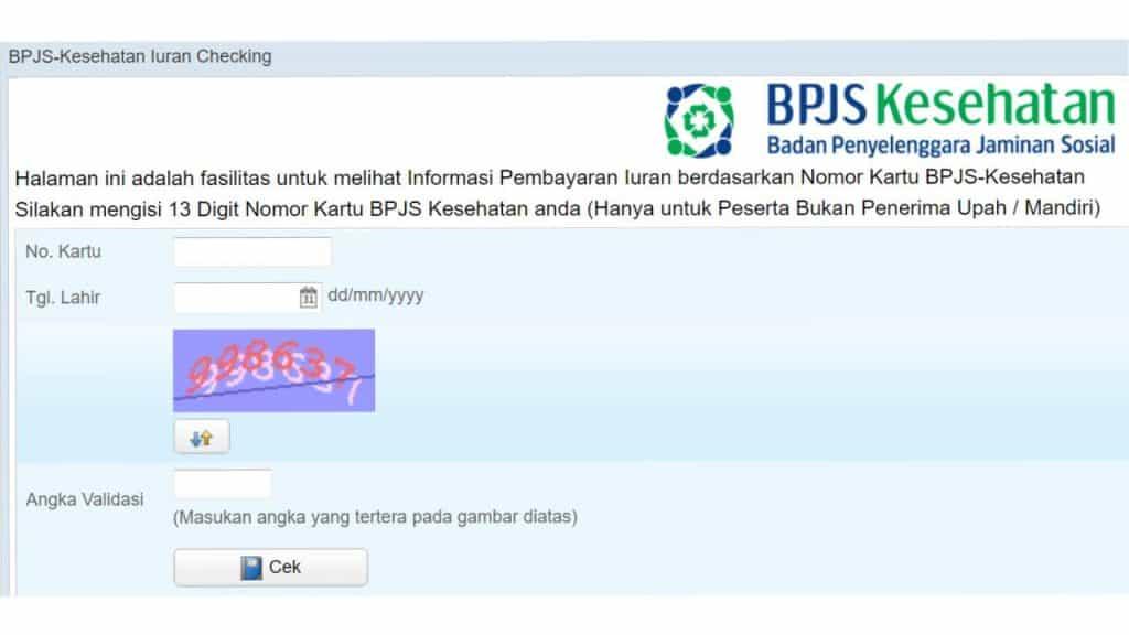 Cek BPJS Kesehatan