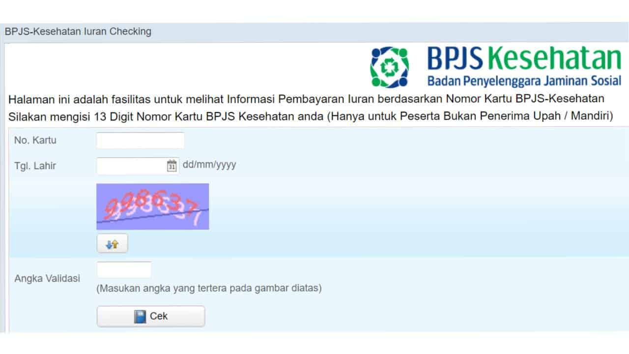 Cara Cek Nomer BPJS Kesehatan via Website