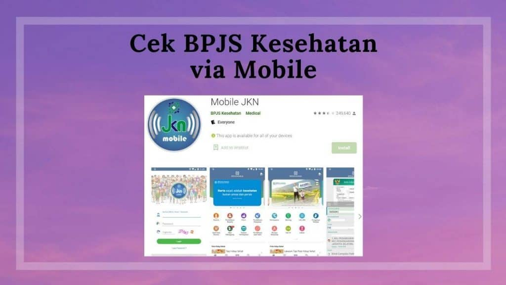 Cek BPJS Kesehatan Aktif atau Tidak Via Aplikasi Mobile