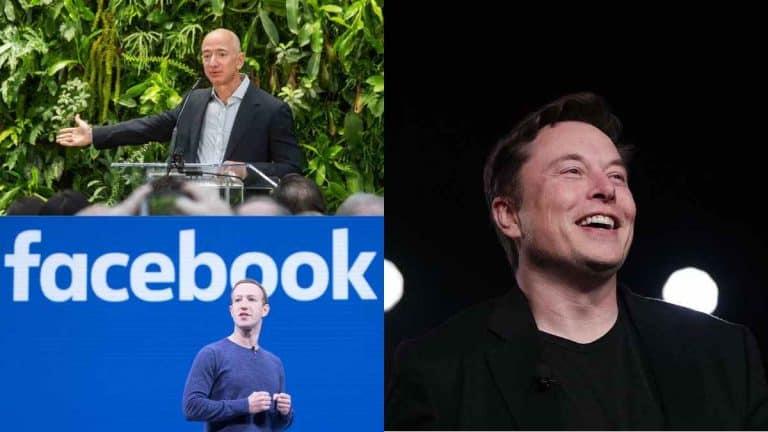 Jeff Bezos, Mark Zuckerberg dan Elon Musk