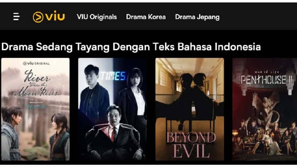Website Streaming Film Viu by Screenshot Viu